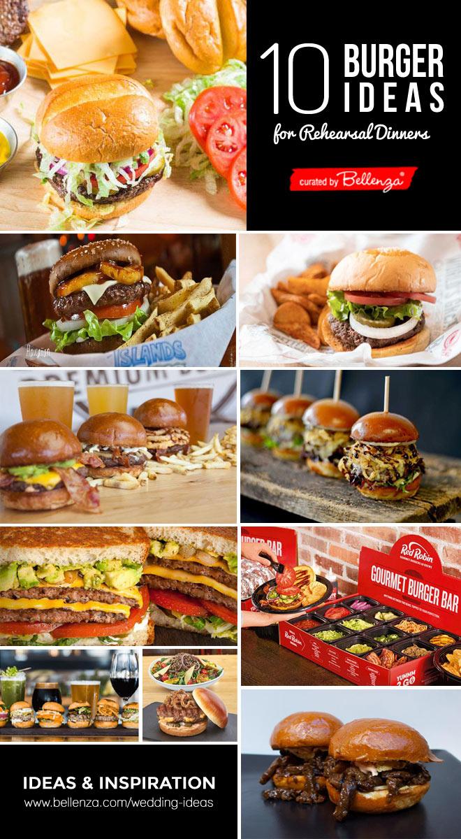 Wedding burger station