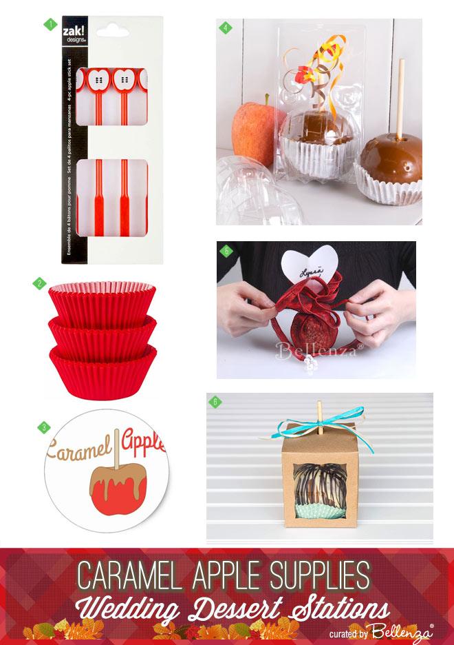 Caramel apple supplies for diy brides