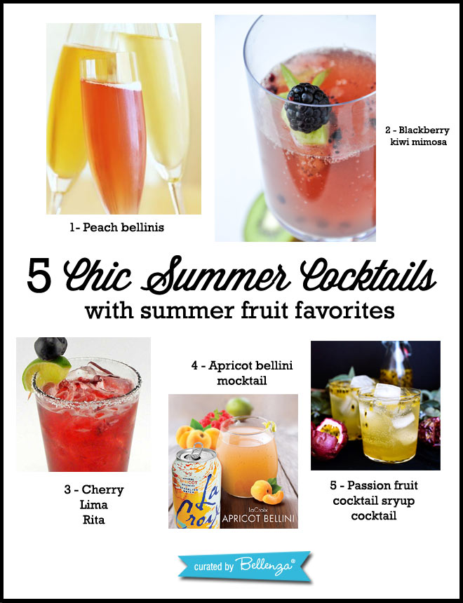 5 fruity cocktails for summer weddings