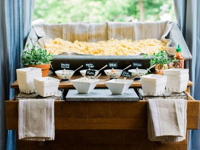 A Bin of Chips on a Buffet   photo via  HGTV