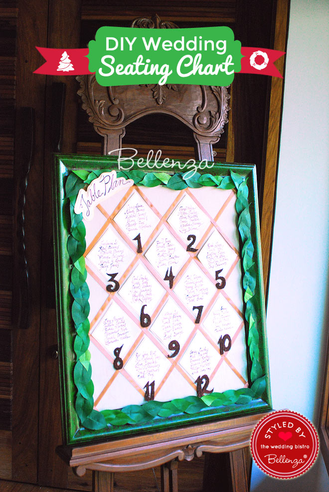DIY Leafy Seating Chart