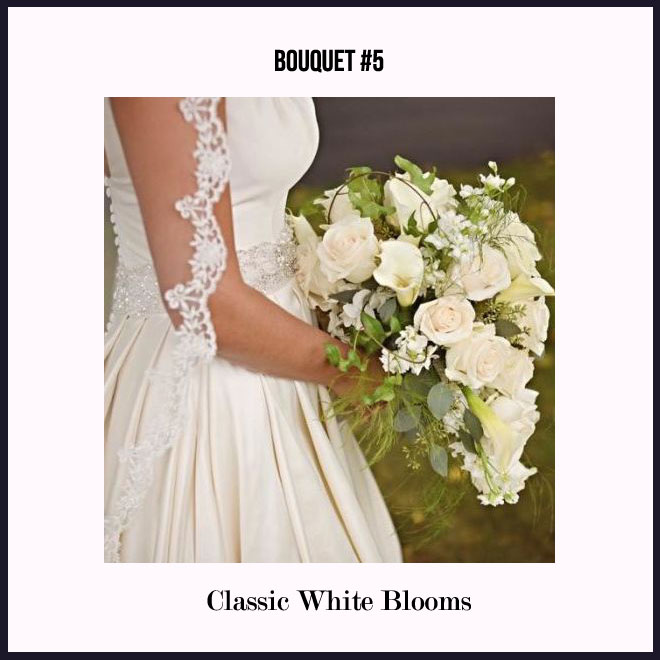 Bouquet #5 in Classic White Blooms