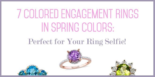 Spring-inspired engagement rings