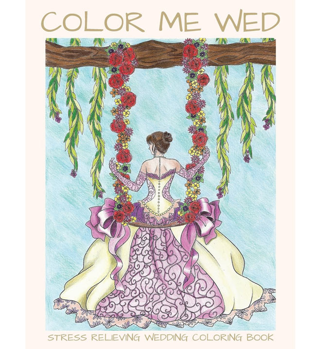 Color Me Wed Coloring Books.