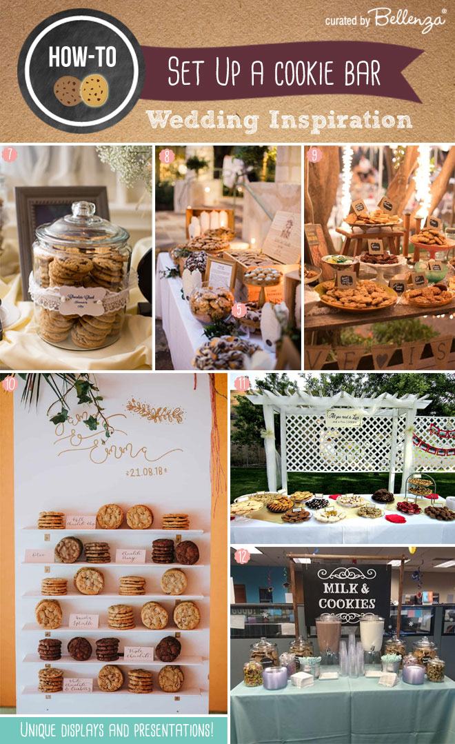 How to present cookies at a wedding station or bar.