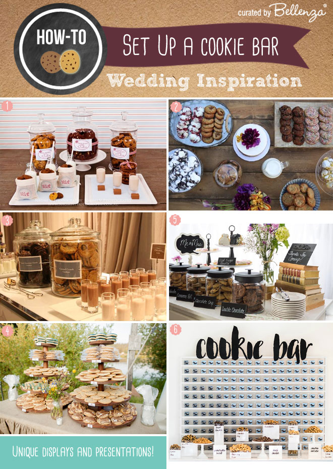 Unique wedding cookies station or bar.