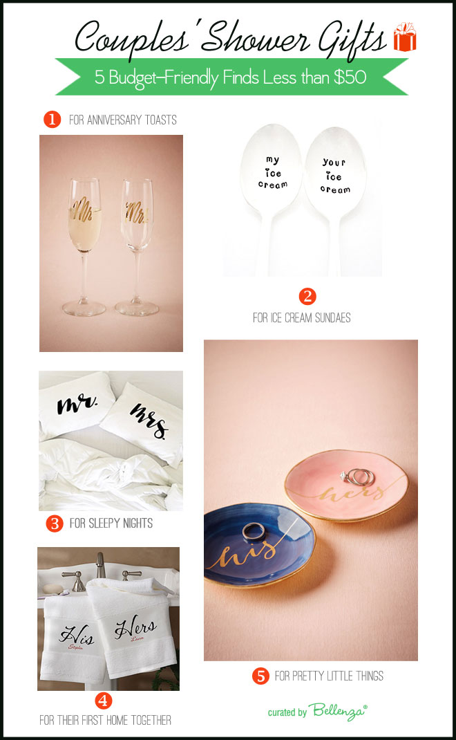Couples shower gifts less than $50