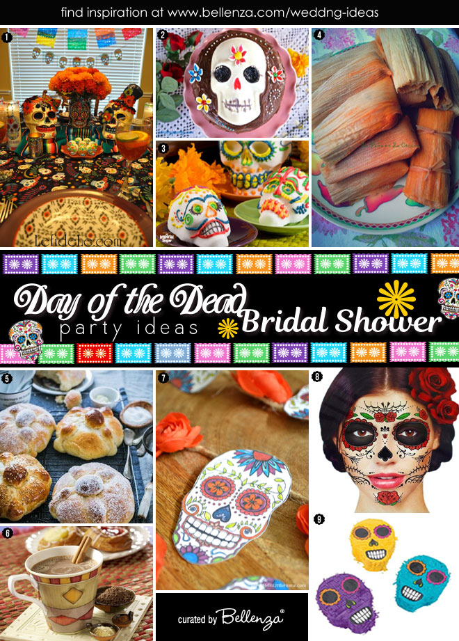 Day of the dead bridal shower ideas and inspiration
