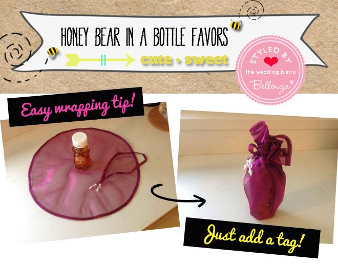 DIY wrapped honey bear bottle