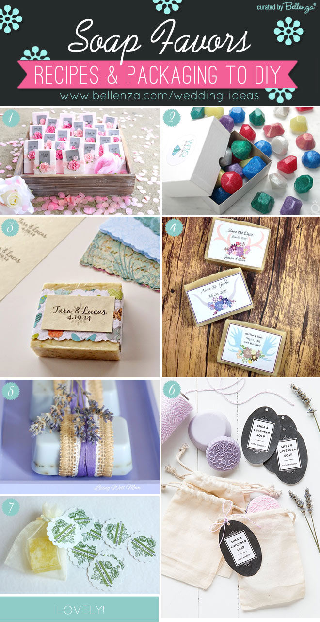 DIY Soap favors for weddings with favor packaging