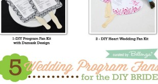 DIY Wedding Program Fan Ideas