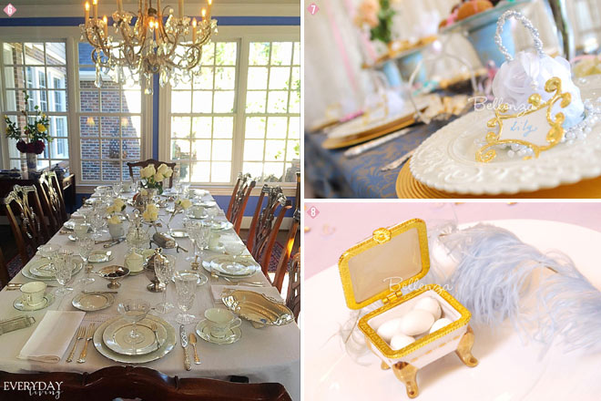 downtown abbey favors and tablescape