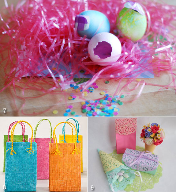 Easter favor bags to cones