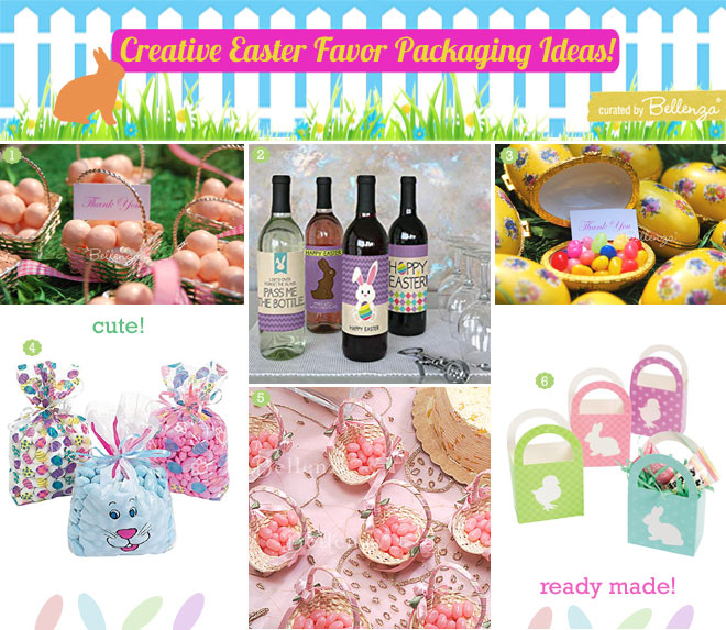 Readymade Easter favor packaging from bags to baskets