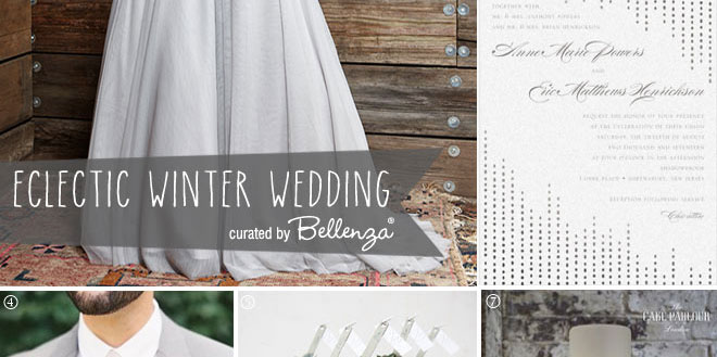 Eclectic winter grey wedding style | A Bellenza curation.