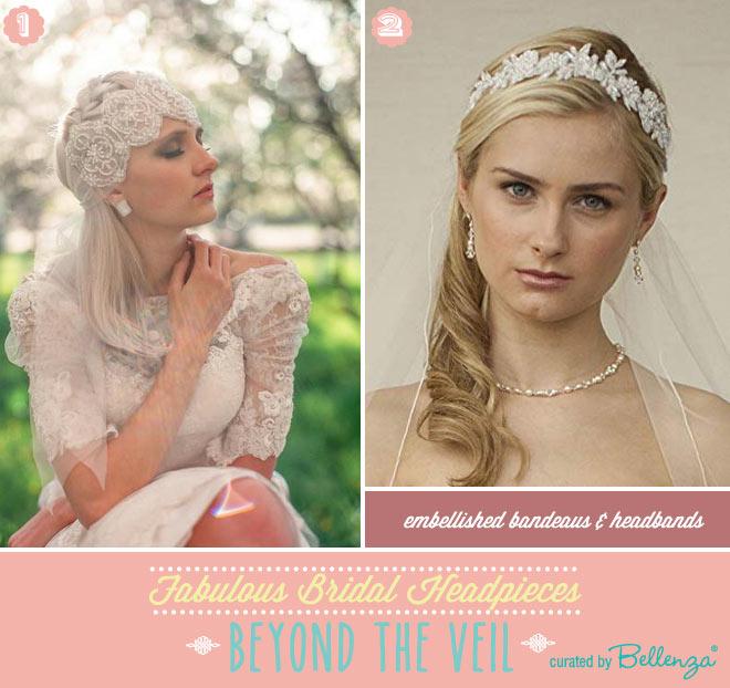 Embellished bridal bandeaus