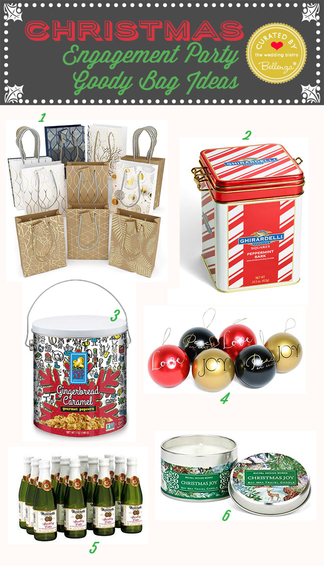 Christmas engagement party goody bag ideas