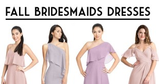 Fall Bridesmaids Dresses: How to Mix and Match Colors