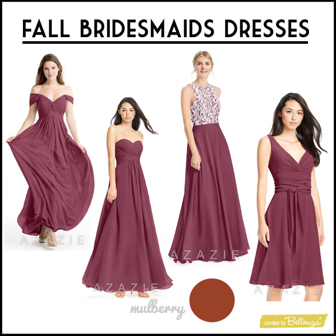 Mulberry Colored Bridesmaids Dresses