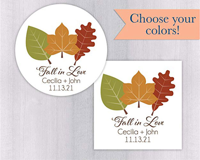 fall leaves favor tag