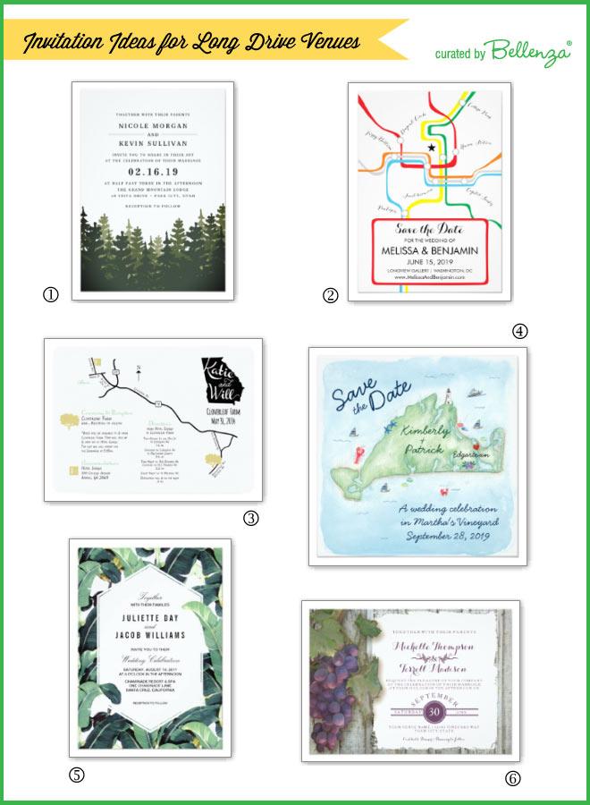 Wedding invitations for long drive weddings.