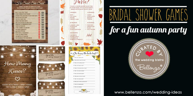 Fun Fall Bridal Shower Games with Printables
