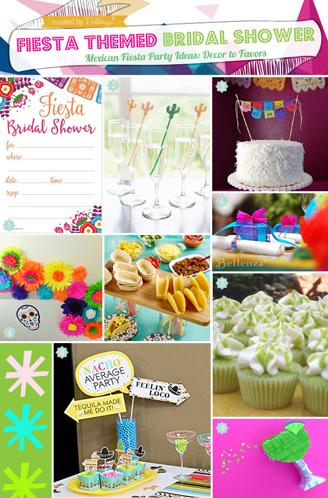 FIESTA THEMED BRIDAL SHOWER DECORATIONS TO FAVORS ON A BUDGET