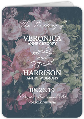 Vintage floral wedding programs.