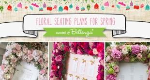 Beautiful spring floral seating plan ideas.