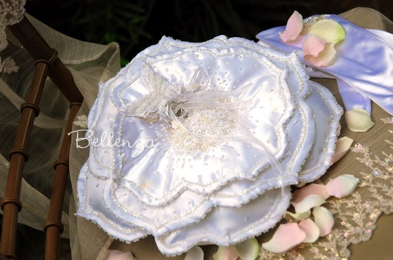 Floral Satin Ring Pillow