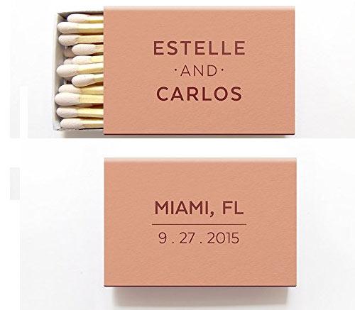 Foil Matchboxes with Personalization via Amazon