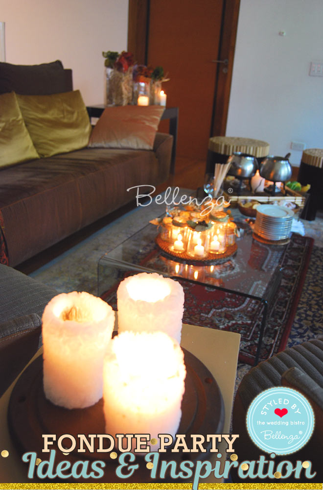 Candle centerpieces on display by living room end table // Bellenza
