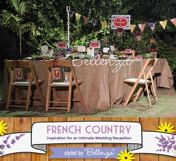 Elopement dinner theme: French country party