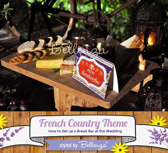 French bread bar wedding