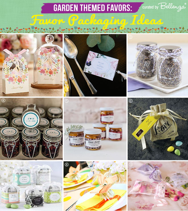 Garden or Nature-inspired Favor Packaging Ideas