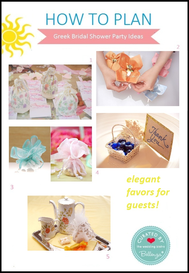 Greek bridal shower favor ideas