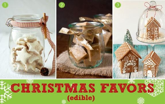 edible christmas favors