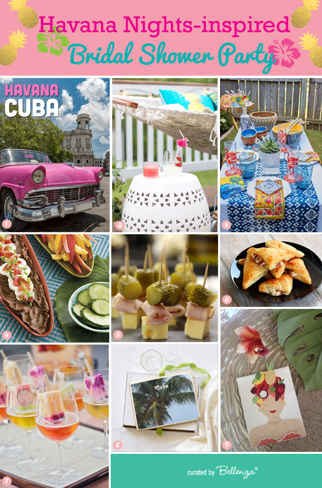 Havana Nights Bridal Shower Party with a Backyard Vibe From Food to Decor to Favors // curated by Bellenza