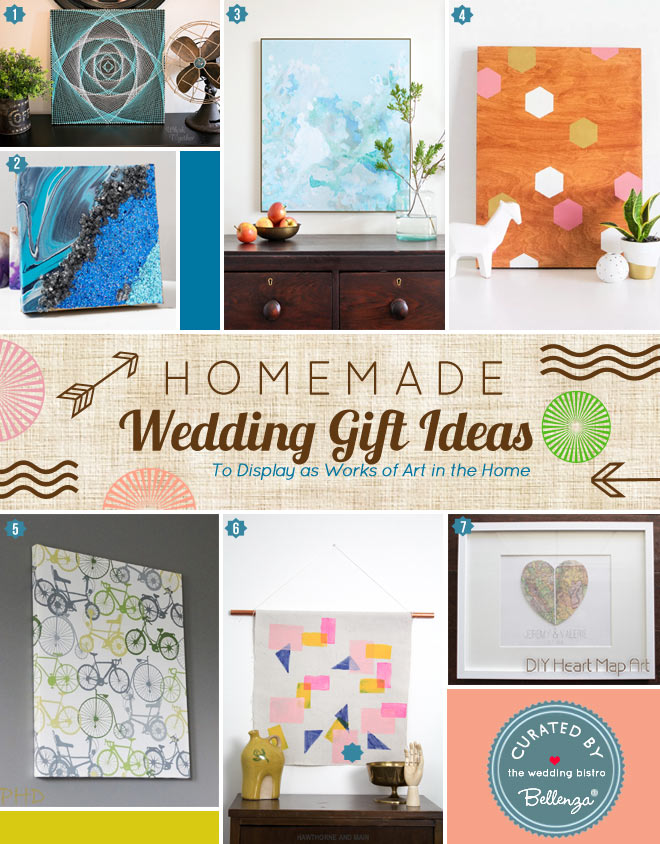 Homemade Wedding Gifts that are Works of Art from Abstract to Geometric Art, including and Canvas Art