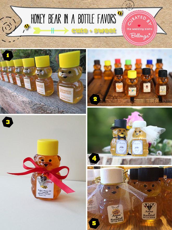 Honey Bear in a Bottle Favors