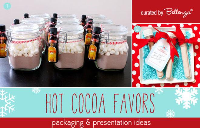 DIY hot cocoa favors.