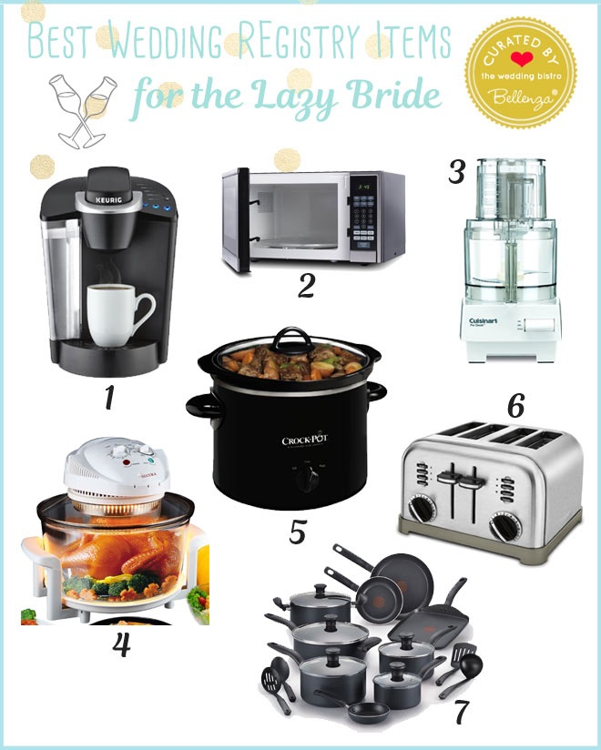 Kitchen appliances for the lazy bride.