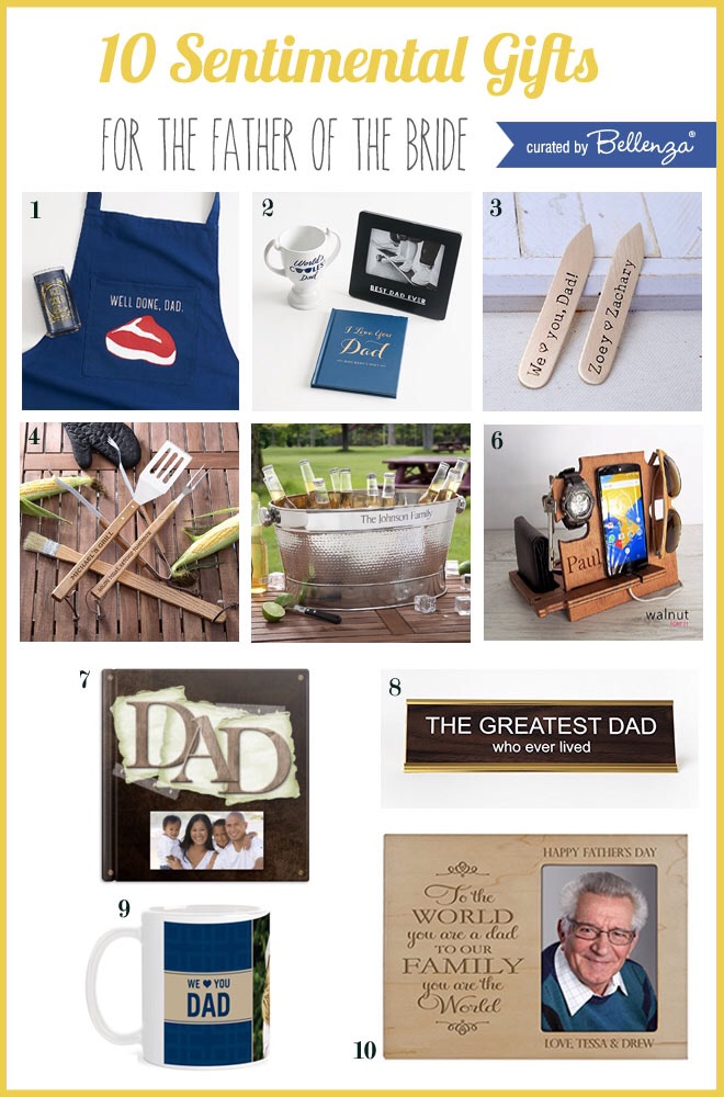 sentimental gift ideas for the father of the bride