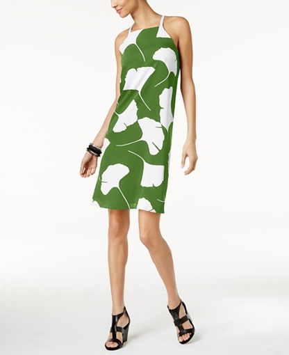 Print halter from Macy's in jungle green