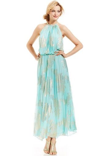 Mint green halter dress