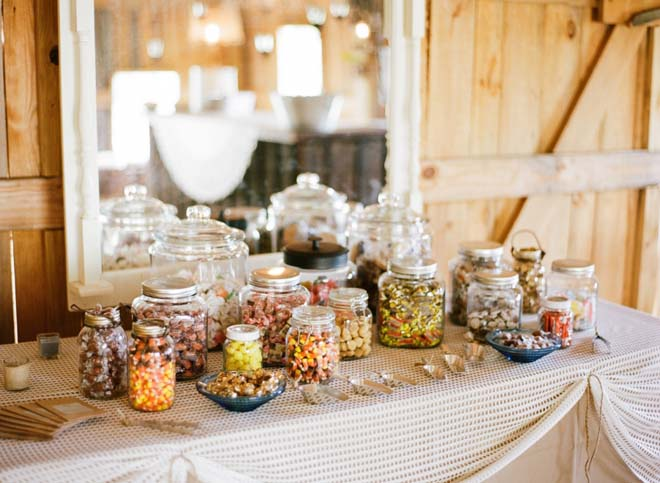 How To Set Up A Fall Wedding Candy Buffet Table