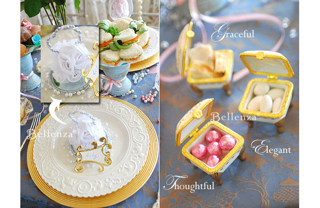 Elegant Victorian-inspired favor ideas for wedding shower guests.