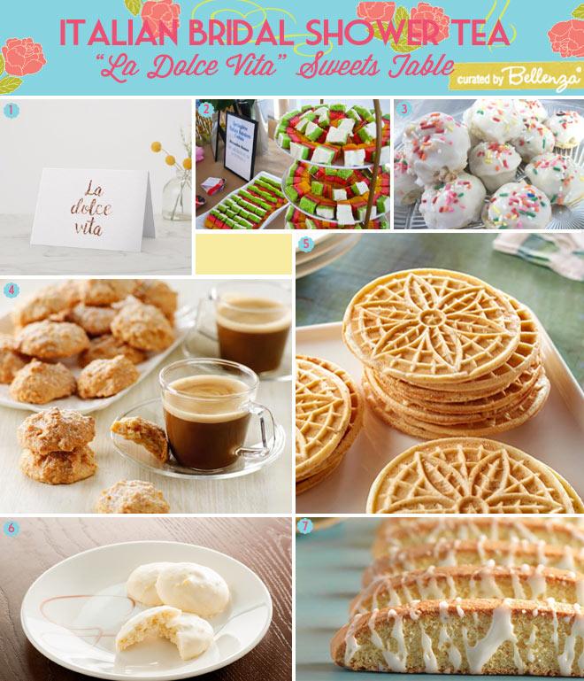 Italian Bridal Shower Tea Cookies