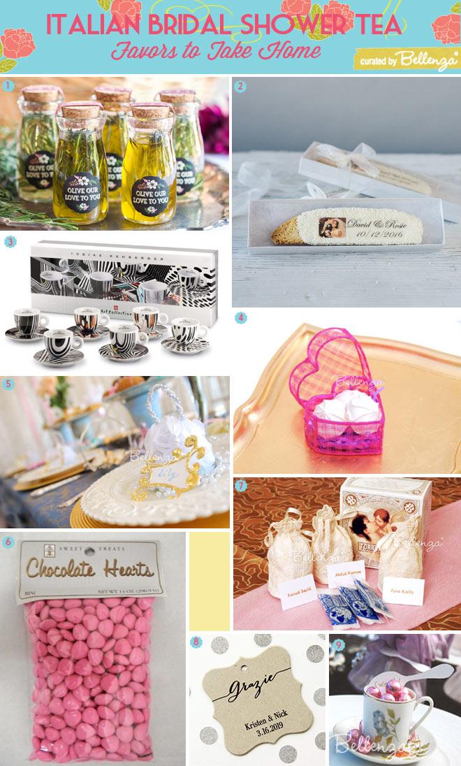Italian Bridal Shower Tea Favor Ideas