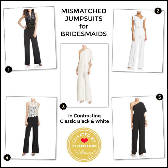 Jumpsuits in Contrasting Classic Black and White